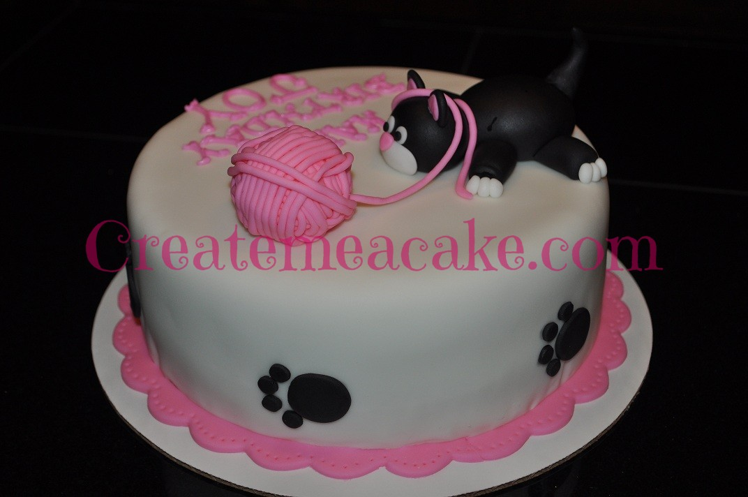 Playful Kitten Cake Create Me A Cake