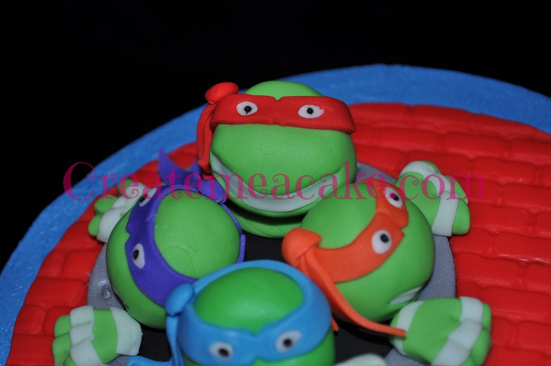 Teenage Mutant Ninja Turtles Cake & Cupcakes – Create Me A Cake
