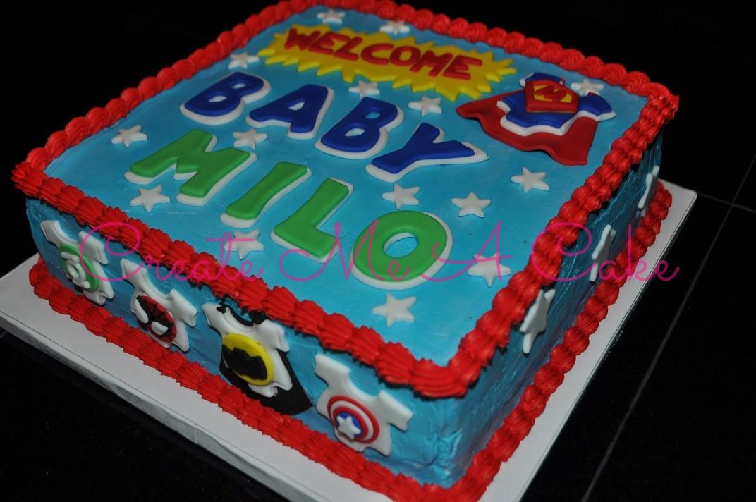 Baby Superhero Cake