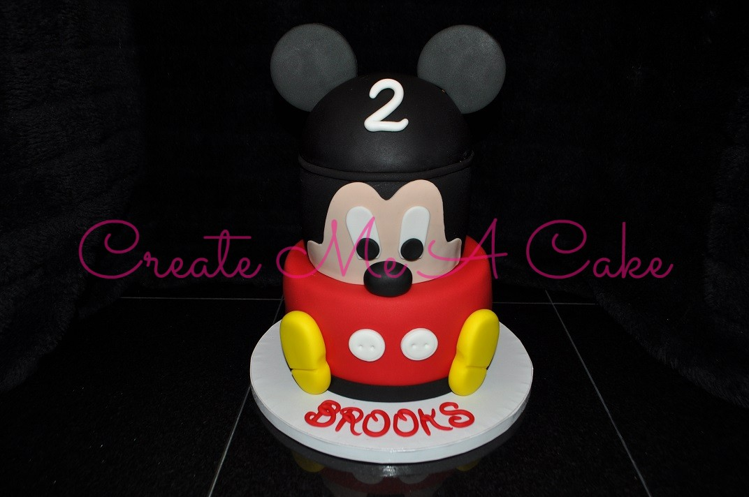 Stacked Mickey Mouse Cake Create Me A Cake