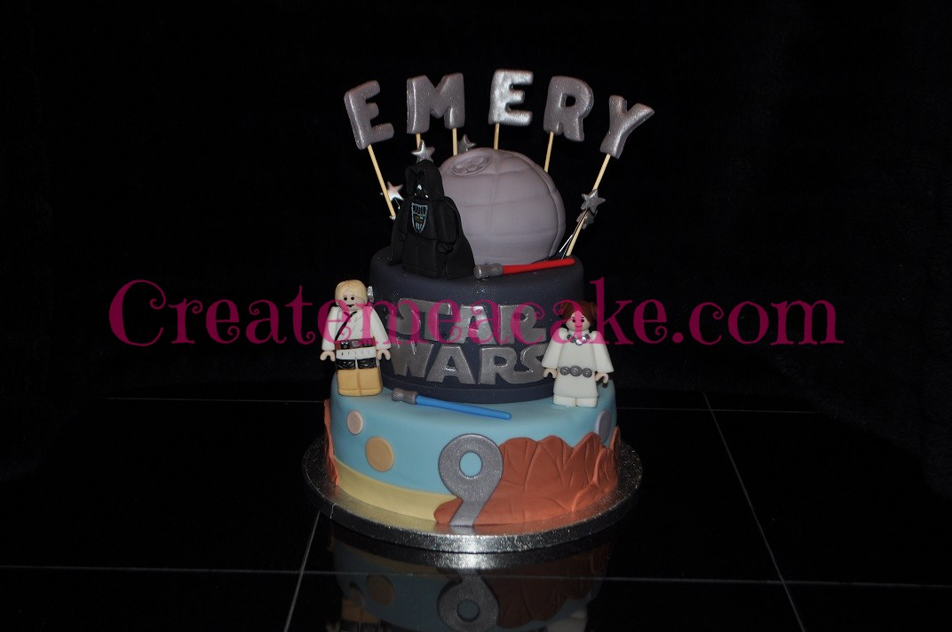 Star Wars Cake with Characters