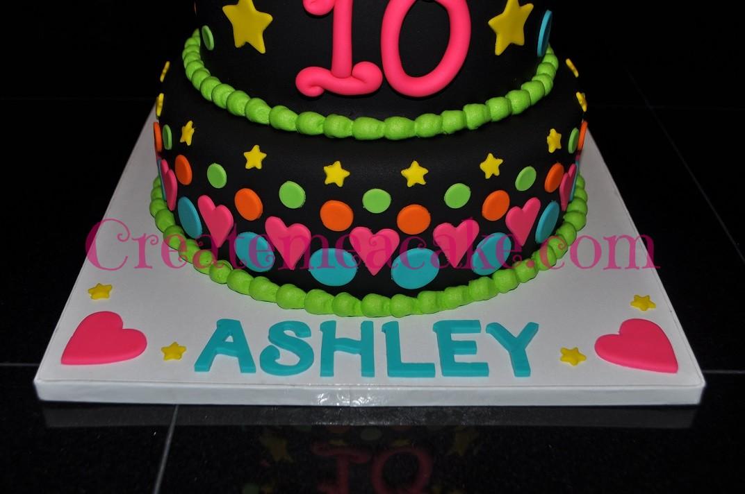 Bright Colors Birthday Cake Create Me A Cake