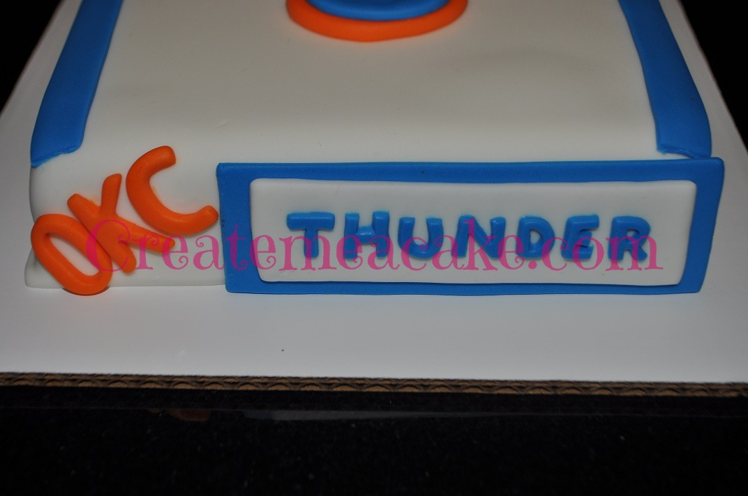 OKC Thunder Jersey Cake – Create Me A Cake