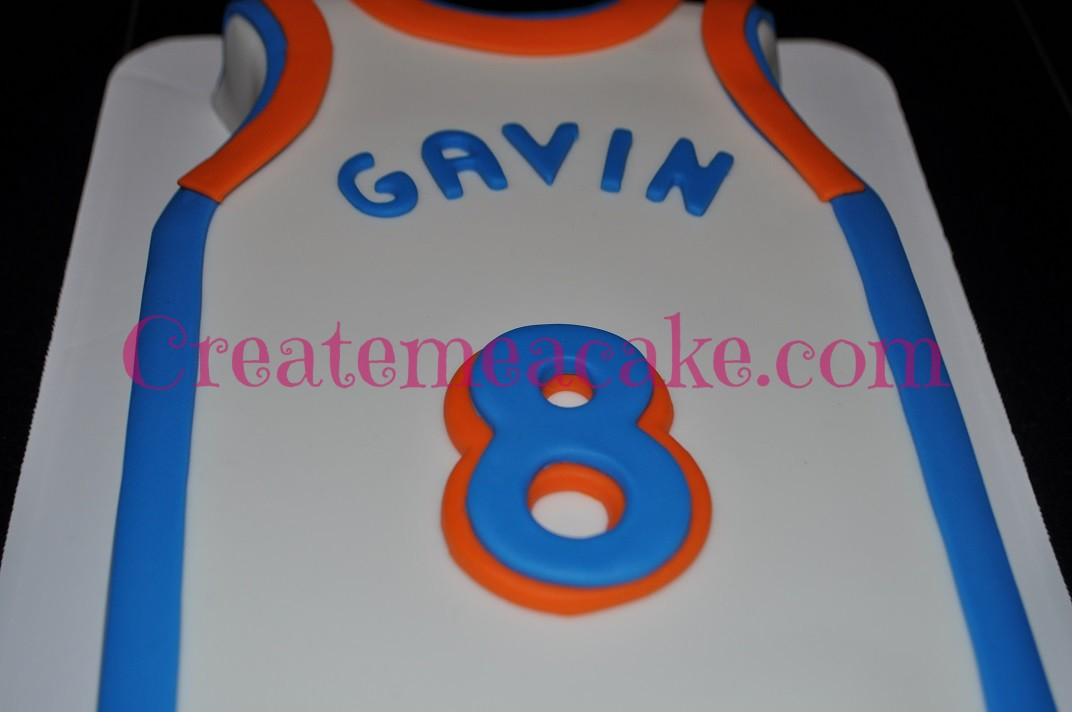 41af8ac6d OKC Thunder Jersey Cake – Create Me A Cake