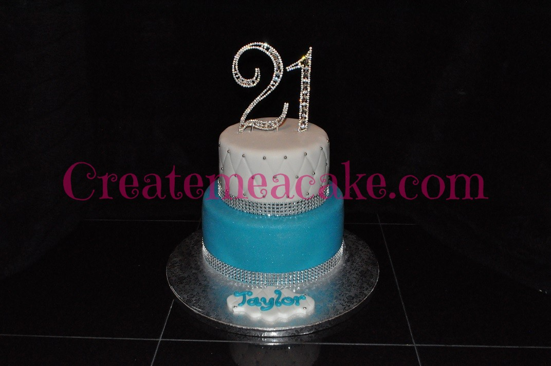 21st Bling Birthday Cake Create Me A Cake