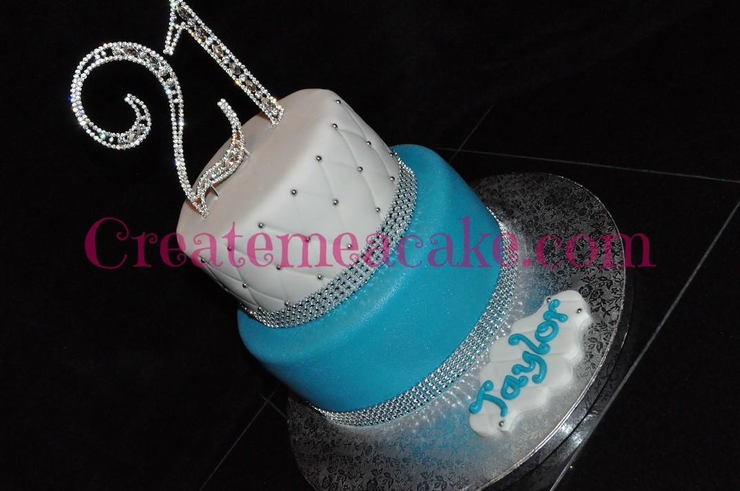 21st Bling Birthday Cake Create Me A Cake