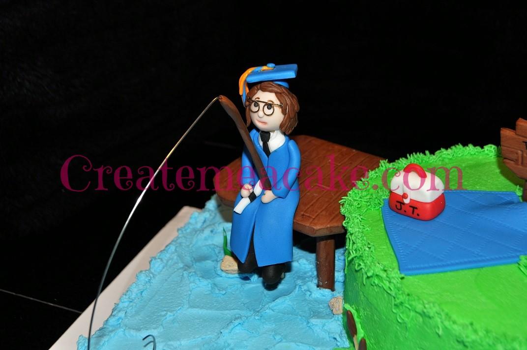 Graduate Fishing Cake Create Me A Cake