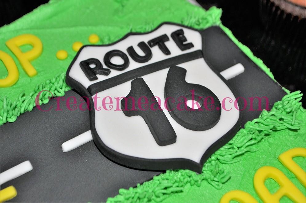 Route 16 Cake With Poop Emoji Cupcakes Create Me A Cake