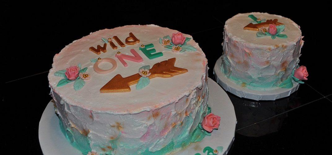 Arrow 1st Birthday Cake